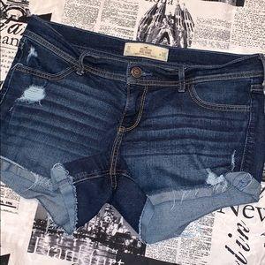 Hollister midi cutoff shorts